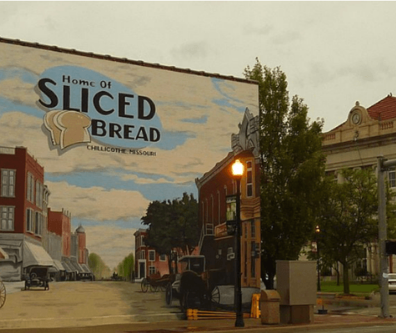 Photo of store location mural